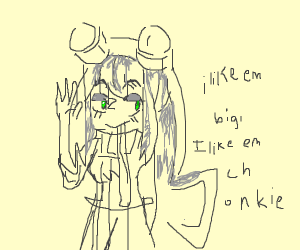 moto motto but it's the frog girl from anime