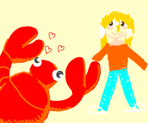 lobster likes blondes