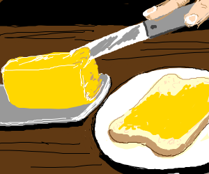 Butter on toast