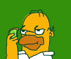 Homer Simspon with a donut
