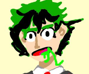 Anime dude drools green stuff