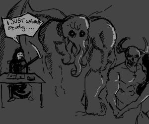 Satan, Cthulhu, and Death at highschool
