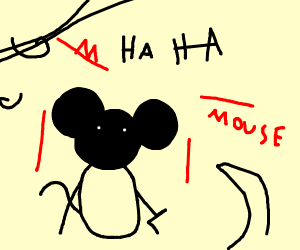 black mikey mouse