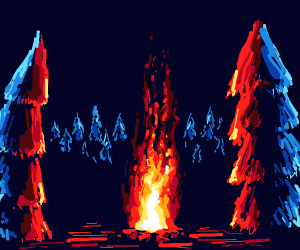 small campfire