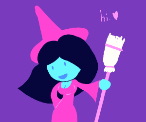 Witch girl says hi