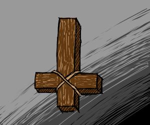 Upside down cross?