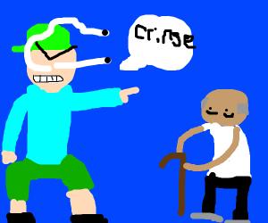 person calling a elder cringe