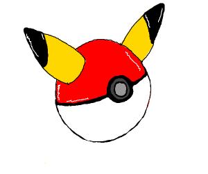 Pokeball with pikachu ears