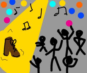 Boot has been chosen to disco dance!