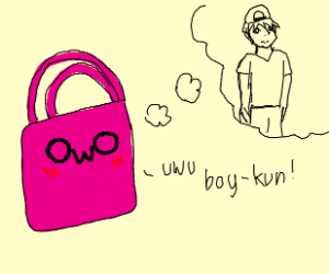 hand bag really loves boys i guess