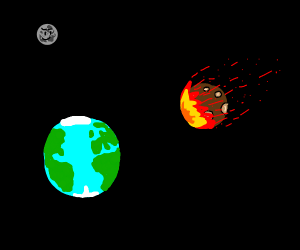 Meteor heads straight for earth
