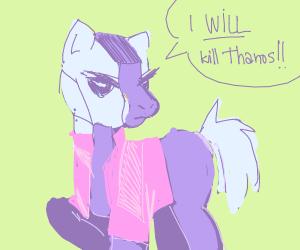 Draw Nebula (MCU) as a My Little Pony.