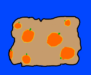 Map of oranges