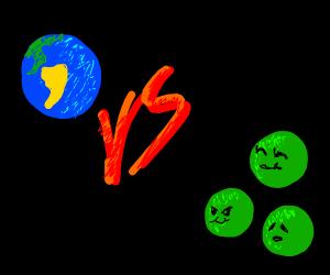 earth VS peas