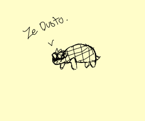 jojo character (i think?) as a turtle