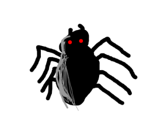 old-fashioned cartoony spider