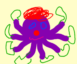 A clown octopus