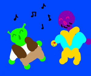 Shrek and Thanos Singing Together