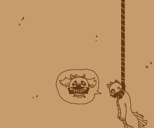 Death by hanging your self by noose