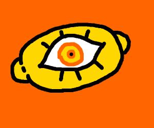 Lemon with a eye