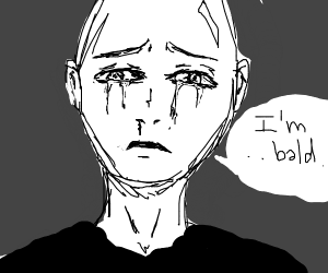 Bald Man is Sad