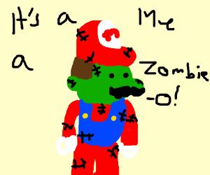 Zombie Mario cosplay
