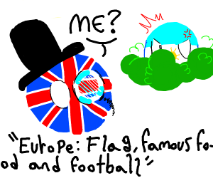 Europe: Flag, famous food and football