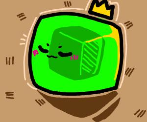 Green kawii king slime