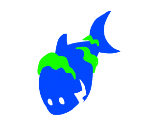 Shark With Seaweed On It
