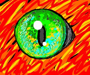 Cat's eye in lava