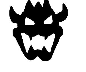 black and white bowser logo