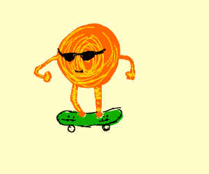 the sun is a skater dude (rad, bro!)