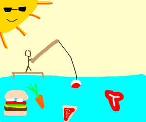 fishing for food
