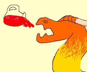 creature drinking koolaid