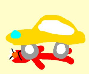 elmo got run over