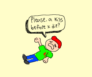 A dying red-haired boy wants kisses