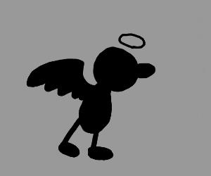 Angel shadow figure