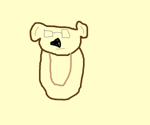 Bear with reading glasses