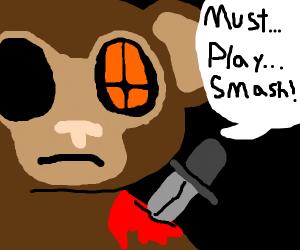stab victim monkey must play super mario bros