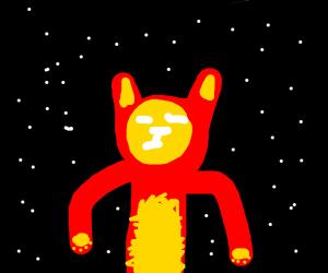 tony stark lost in space but its a cat