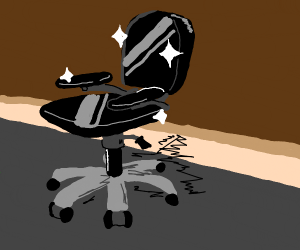 black office chair is a black beauty