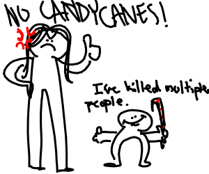Mom won't let son have candy cane