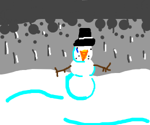Lonely snowman