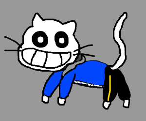 Sans, but as a cat