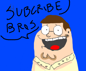 peter griffin asks u to subscribe