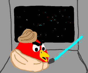 Luke Skywalker is the red angry bird!