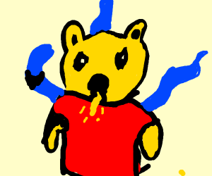 winnie the pooh has fused with the kraken