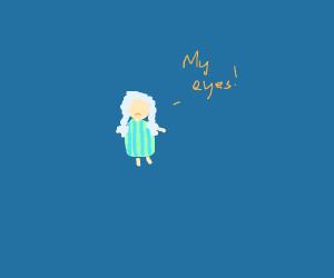 Grandma without eyes