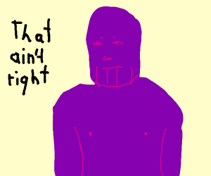 Thanos snaps his armour away?
