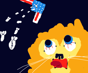Murican airplane BOMBS lion